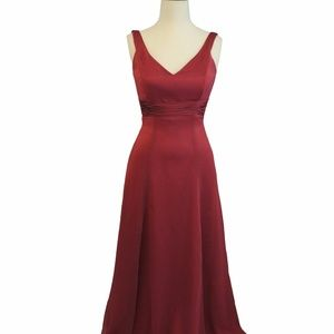 Belsoie Dresses - Belsoie Burgandy Long Dress, Size: 10